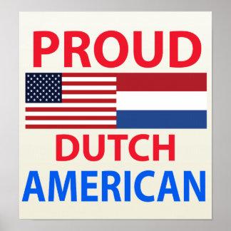 Americano holandés orgulloso póster