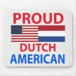 Americano holandés orgulloso tapetes de ratón