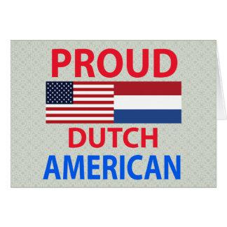 Americano holandés orgulloso tarjeta de felicitación