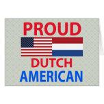Americano holandés orgulloso tarjetón