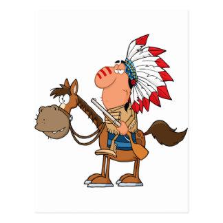 Americano indio nativo postal
