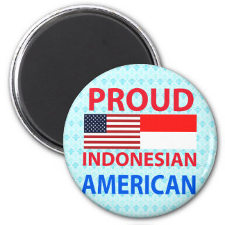 Americano indonesio orgulloso iman para frigorífico