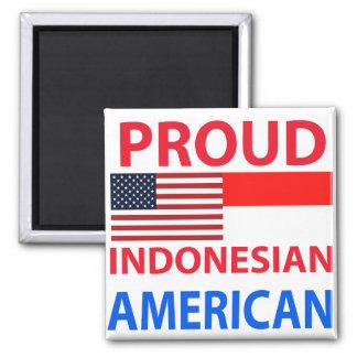 Americano indonesio orgulloso imán