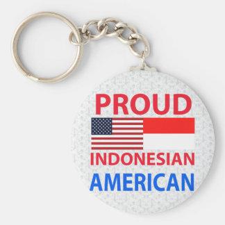 Americano indonesio orgulloso llaveros