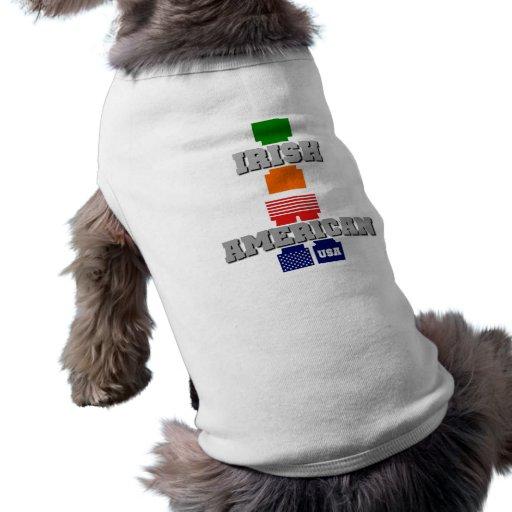 Americano irlandés camisa de perro