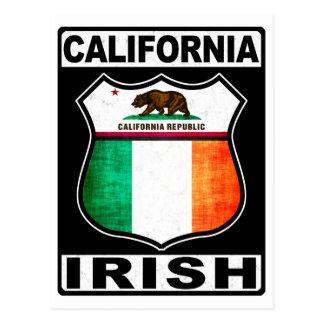 Americano irlandés de California Tarjetas Postales