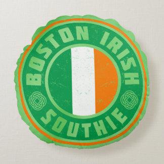 Americano irlandés de la almohada de Southie del Cojín Redondo