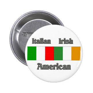 Americano irlandés italiano pin redondo de 2 pulgadas