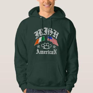 Americano irlandés jersey con capucha