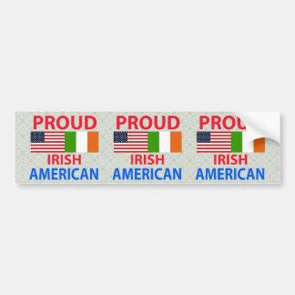 Americano irlandés orgulloso pegatina de parachoque