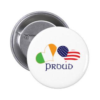 Americano irlandés orgulloso pin