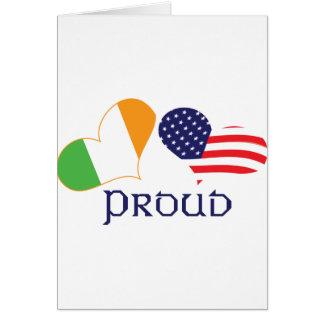 Americano irlandés orgulloso tarjeton