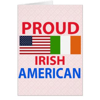Americano irlandés orgulloso felicitaciones