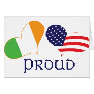 Americano irlandés orgulloso felicitación