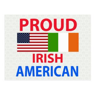 Americano irlandés orgulloso tarjetas postales