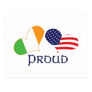 Americano irlandés orgulloso tarjeta postal