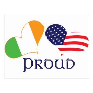 Americano irlandés orgulloso postal