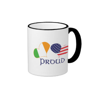 Americano irlandés orgulloso taza a dos colores