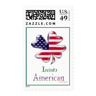 Americano irlandés sello postal