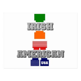 Americano irlandés postales