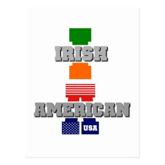 Americano irlandés tarjeta postal