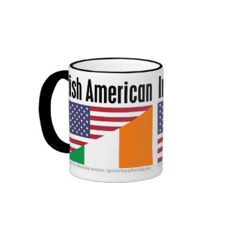 Americano irlandés taza de dos colores