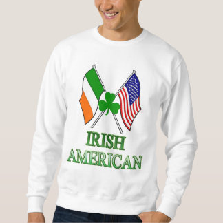 Americano irlandés, trébol el el día de St Patrick Suéter