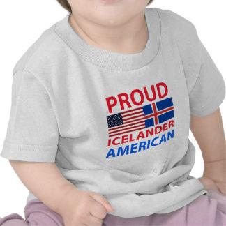 Americano islandés orgulloso camiseta