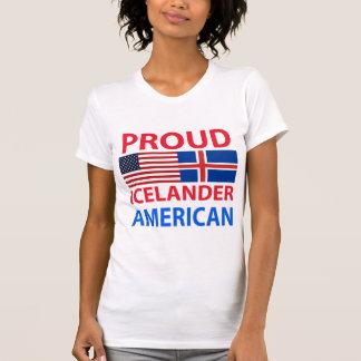 Americano islandés orgulloso camisetas