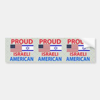 Americano israelí orgulloso pegatina para auto