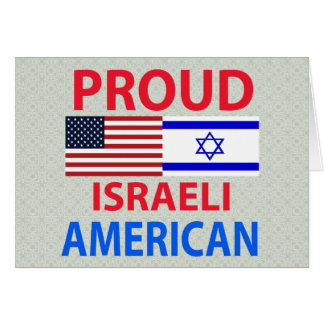 Americano israelí orgulloso tarjeta de felicitación