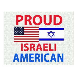 Americano israelí orgulloso tarjetas postales