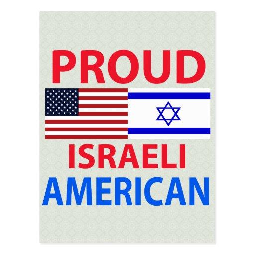 Americano israelí orgulloso tarjeta postal