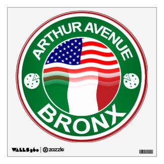 Americano italiano de la avenida Bronx de Arturo Vinilo Decorativo