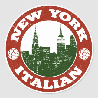 Americano italiano de Nueva York Pegatina Redonda