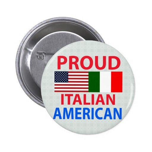Americano italiano orgulloso pin redondo 5 cm