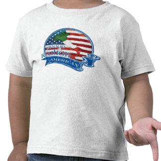 Americano italiano orgulloso camiseta