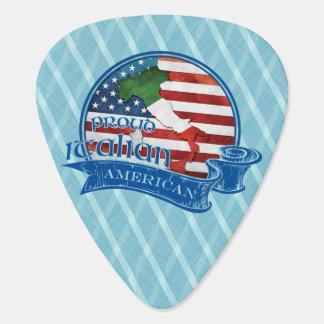 Americano italiano orgulloso plumilla de guitarra