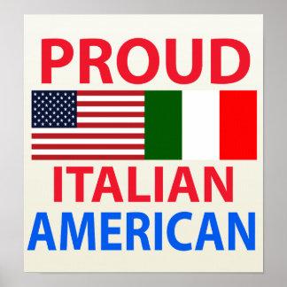 Americano italiano orgulloso póster