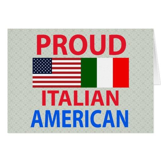 Americano italiano orgulloso tarjeta de felicitación
