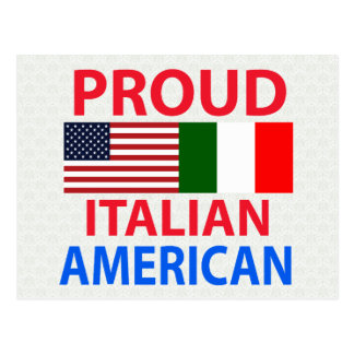 Americano italiano orgulloso tarjetas postales