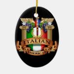 Americano italiano ornamentos de reyes