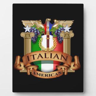 Americano italiano placas de plastico