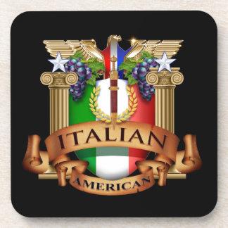 Americano italiano posavasos de bebidas