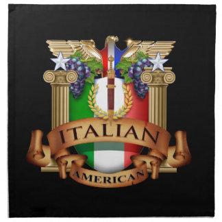 Americano italiano servilleta de papel
