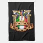 Americano italiano toalla de mano