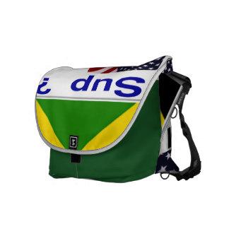 Americano jamaicano bolsas messenger