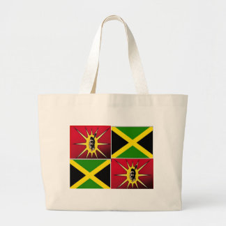 Americano-Jamaicano nativo Bolsa Tela Grande