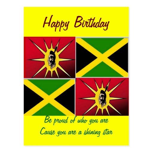 Americano-Jamaicano nativo Postal