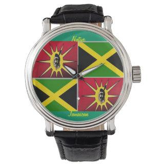 americano-jamaicano nativo relojes de pulsera